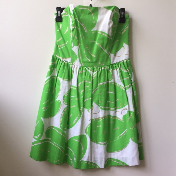 """Lilly Pulitzer Dresses & Skirts - Lilly Pulitzer """"Lottie"""" strapless dress"""
